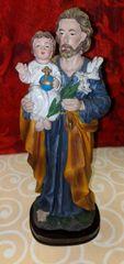 Imagen de San Jose (azul) - Saint Joseph Statue (blue)
