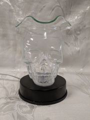 Lampara de Cristal Calavera Transparente - Clear Crystal Skull Lamp