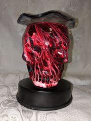 Lampara de Cristal Calavera Roja - Red Crystal Skull Lamp