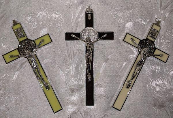 Cruz de San Benito (estilo italiano/azul) - Saint Benedict Cross (italian style/blue)