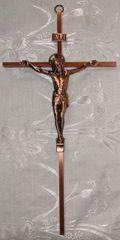 Cruz de Metal con Cristo (cobre/extra grande) - Christ on Metal Cross (bronze/extra large)