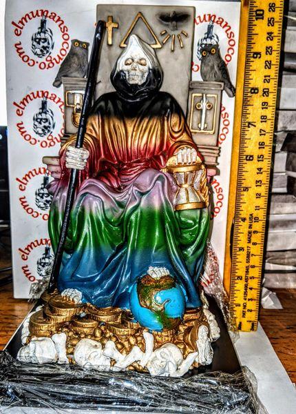 Santa Muerte Sentada 7 colores - Santa Muerte Sitting 7 colors