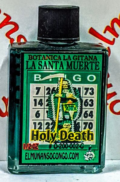 Santa Muerte Verde 1/2 oz aceites - Holy Death Green 1/2 oz oils