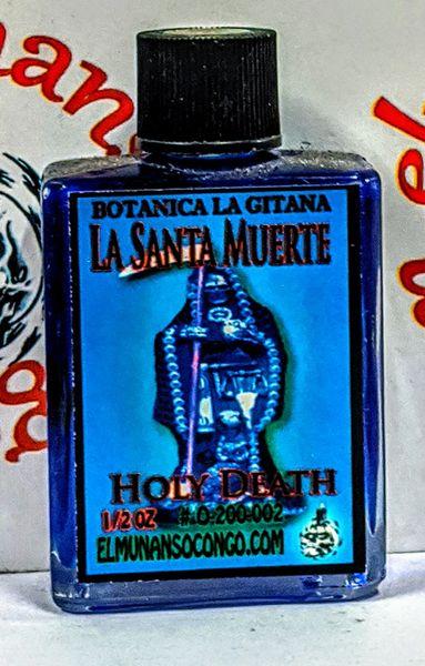 Santa Muerte Azul 1/2 oz aceites - Holy Death Blue 1/2 oz oils