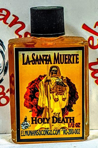 Santa Muerte Amarilla 1/2 oz aceites - Holy Death Yellow 1/2 oz oils