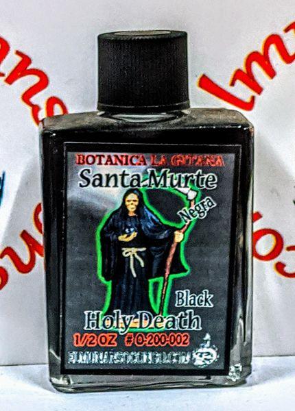 Santa Muerte Negra 1/2 oz aceites - Holy Death Black 1/2 oz oils