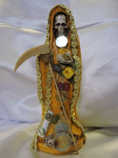 Santa Muerte Vesida Amarillla - Holy Death With Yellow Dress