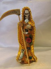 Santa Muerte Amarilla Vestida - Yellow Holy Death Dressed