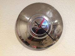 Vintage Chevrolet Hubcap Clock