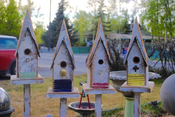 Birdhouse On A Stick