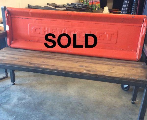 1947-1953 Orange Chevrolet Tailgate Bench
