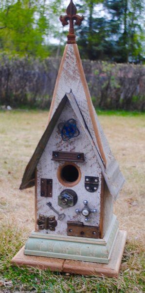"Medium Church Birdhouse ""In Hot Water"""