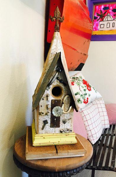 Medium Folk Art Birdhouse