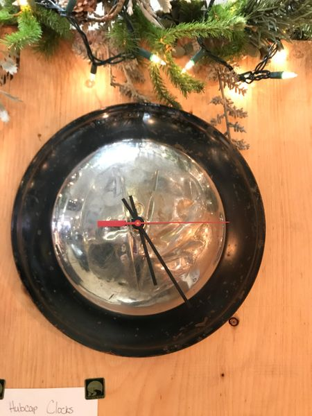 Early Ford V8 Hubcap Wall Clock