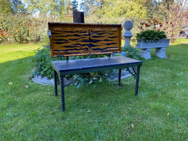 Tiger Striped Willys Tailgate Bench