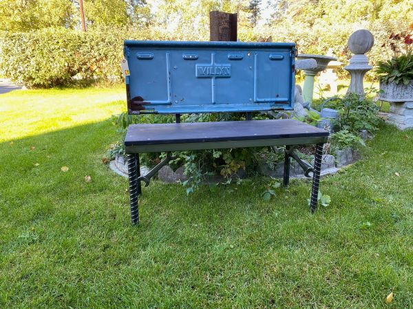 Light Blue Willys Tailgate Bench