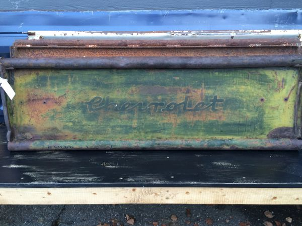 1947 Chevy Tailgate Bench With Cursive Script