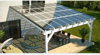 Creative and innovative ways to utilize your solar needs. How about a nice shaded roof oyour patio