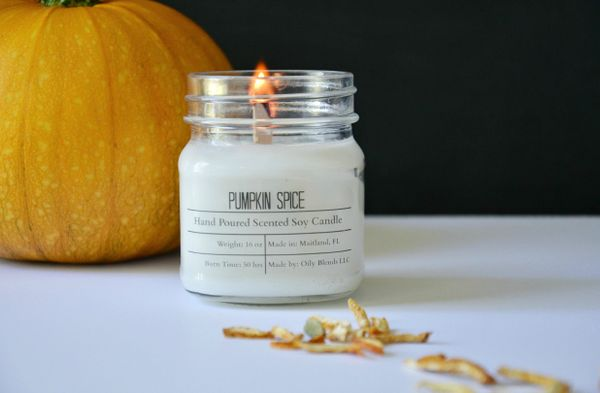 Fall Scented Cotton Wick Soy Candles