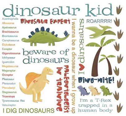 Dinosaur Rub-On