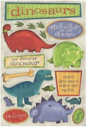Dinosaurs Cardstock Stickers
