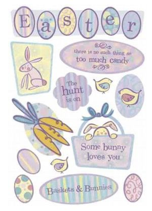 Easter Hunt Cardstock Stickers