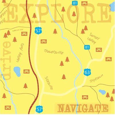 Explore Map 12x12 Paper