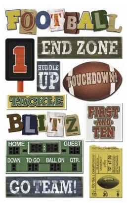 Football Touchdown Cardstock Stickers