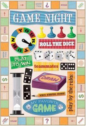 Game Night Cardstock Sticker