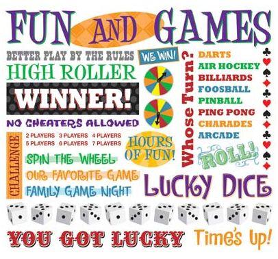 Games Theme Rub-On
