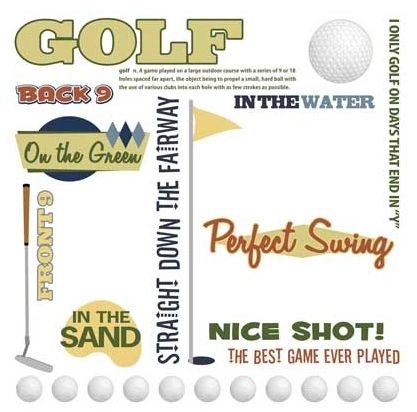 Golf Rub-On