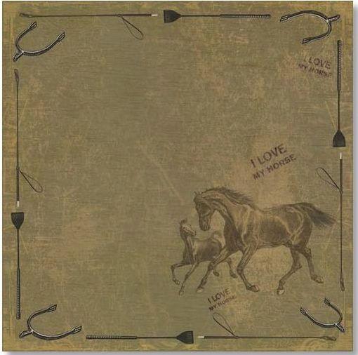 I Love My Horse 12x12 Paper