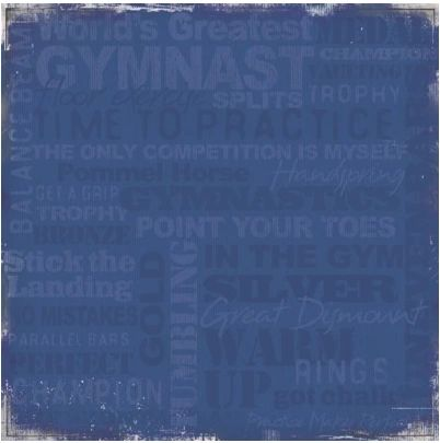 Gymnastic Blue 12x12 Paper