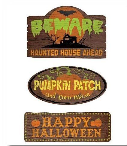 Halloween Outdoor Signs