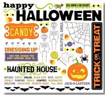 Halloween Themed Rub-On
