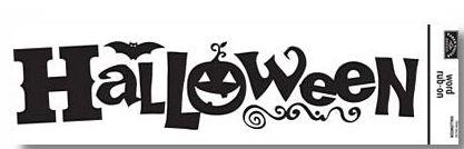 Halloween Word Rub-On