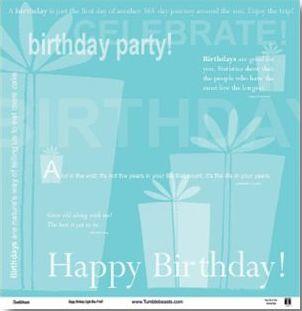 Happy Birthday Light Blue 12x12 Paper