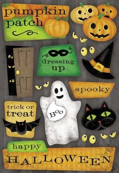 Happy Halloween Cardstock Sticker