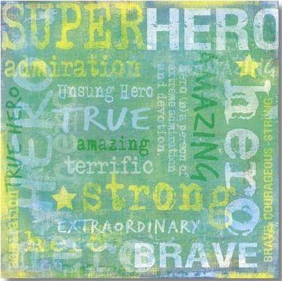 Hero Collage 12x12 Paper