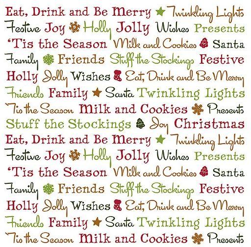 Holiday Cheer Words 12x12 Vellum