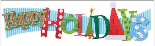 Holidays Stacked Statement Sticker