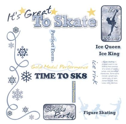 Ice Skate Rub-On