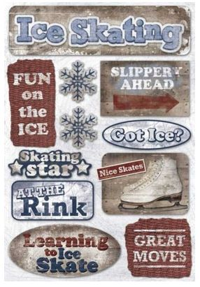 Ice Skating Cardstock Sticker