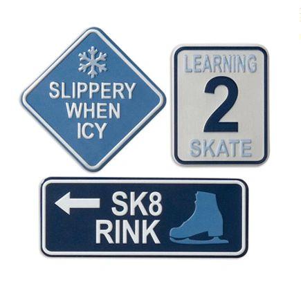 Ice Skating Metal Signs
