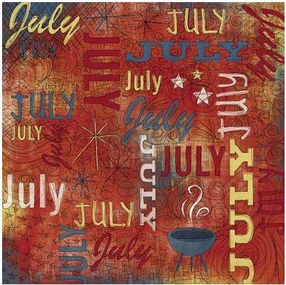 July Doodle 12x12 Paper