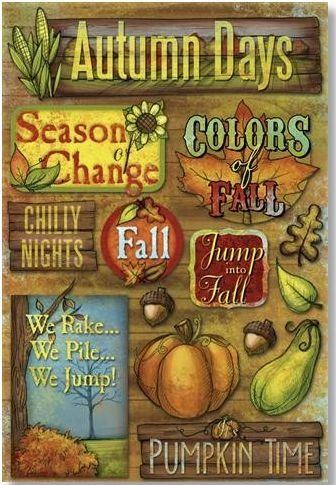 Jump Into Fall Stickers
