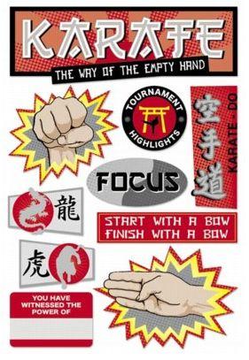 Karate Cardstock Sticker