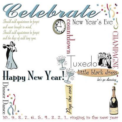 New Year's Rub-Ons