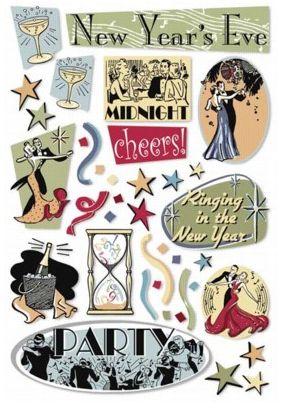 New Year's Sticker