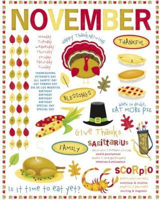 November Rub-On